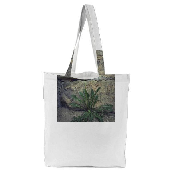 Yellow Petaled Flower Tote Bag