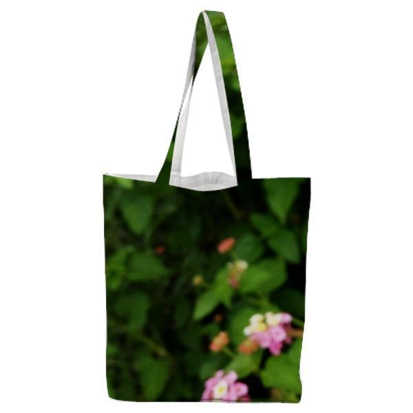 Yellow White And Pink Petaled Flower Tote Bag