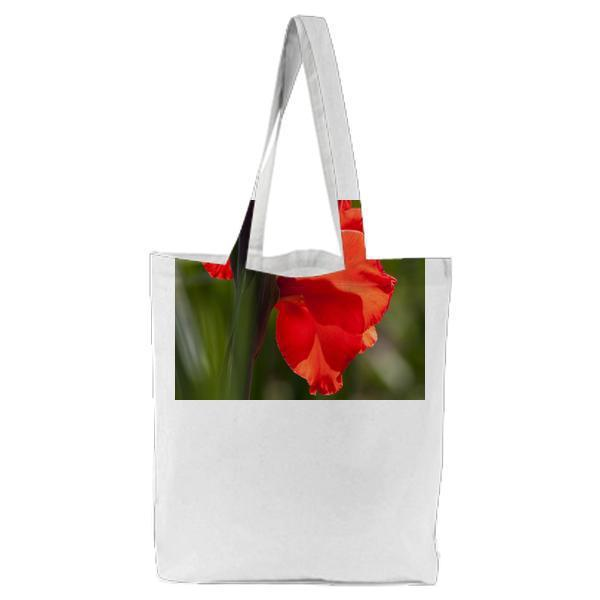 Red Flowerss Tote Bag