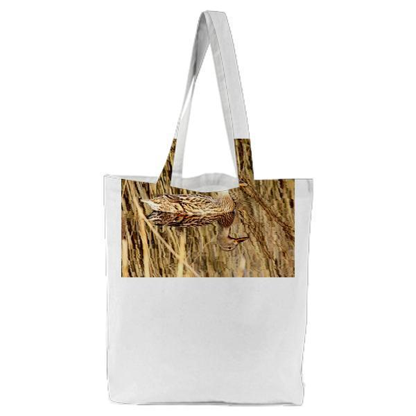 Brown And White Mullard Duck Tote Bag