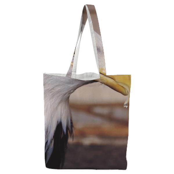 Selective Focus Of Two Bird Tote Bag
