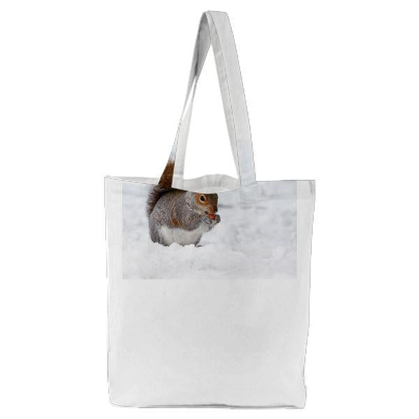 Gray White And Black Long Coat Legged Animal Tote Bag