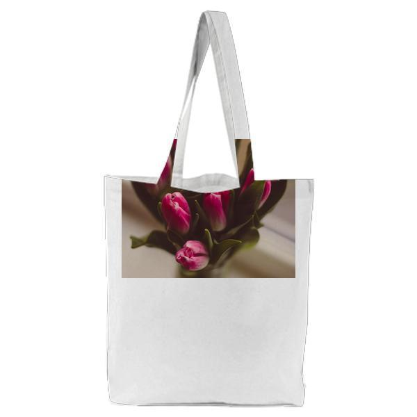 Flowers Flora Decorative Tulips Tote Bag