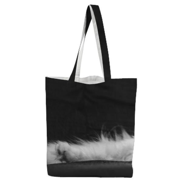 BlackAndWhite Animal Pet Cute Tote Bag