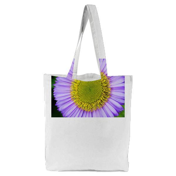 Micro Photography Purple And Yellow Flower Tote Bag