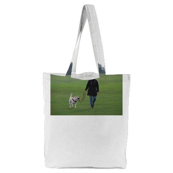 Person Animal Dog Pet Tote Bag