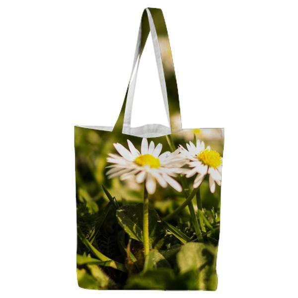 Flowers Summer Grass Meadow Tote Bag