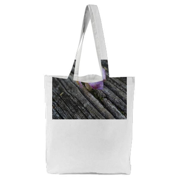 Wood Petals Flower Bloom Tote Bag