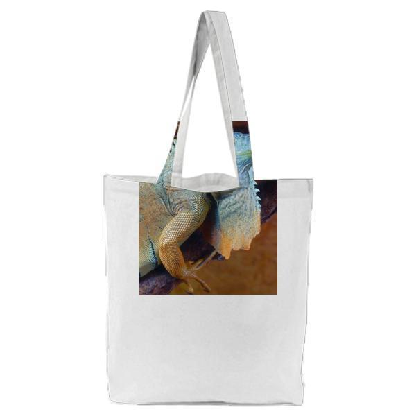 Green And Gray Lizard Tote Bag