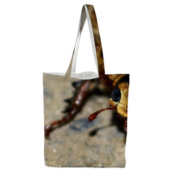 Brown Bettle Tote Bag