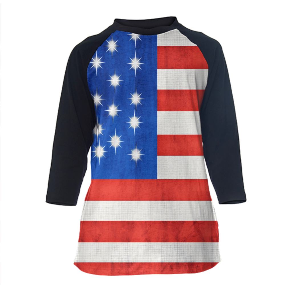 American Flag Baseball Shirt