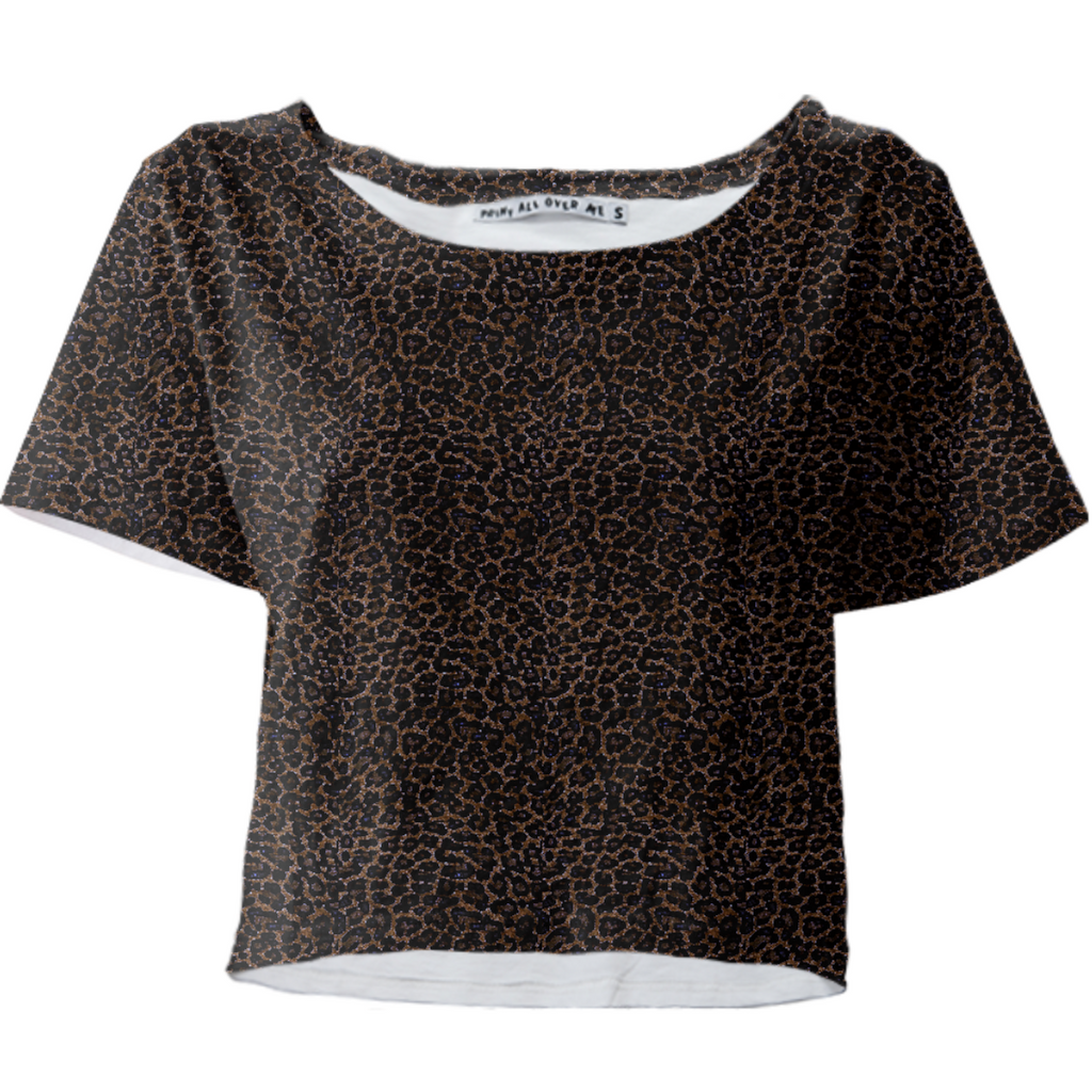 888 Leopard Print Crop Top