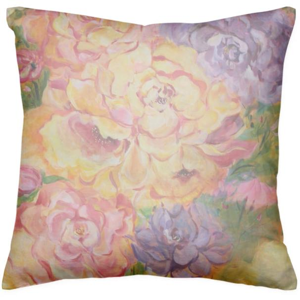 Peonies For Your Thoughts Cushion