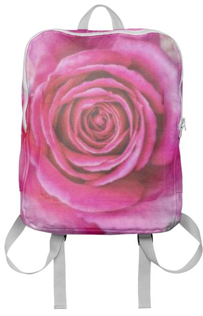 Hot Pink Rose Closeup Backpack