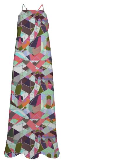 Fabulous Geometric Pattern Chiffon Maxi Dress