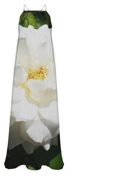White Flower Maxi Dress