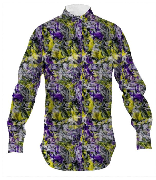 Yellow and Purple Dress Shirt