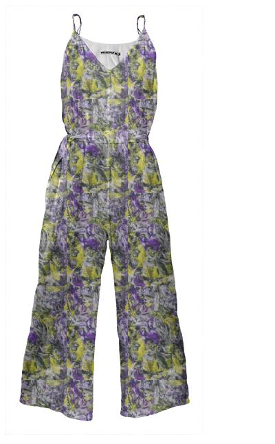 Violets and Daffodils Jumpsuit
