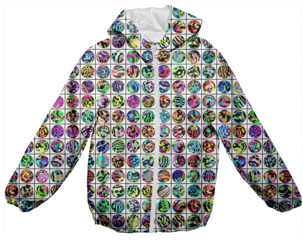 PAOM, Print All Over Me, digital print, design, fashion, style, collaboration, muffybrandt, Kids Rain Jacket, Kids-Rain-Jacket, KidsRainJacket, shirt, dots, and, grid, autumn winter spring summer, unisex, Poly, Kids