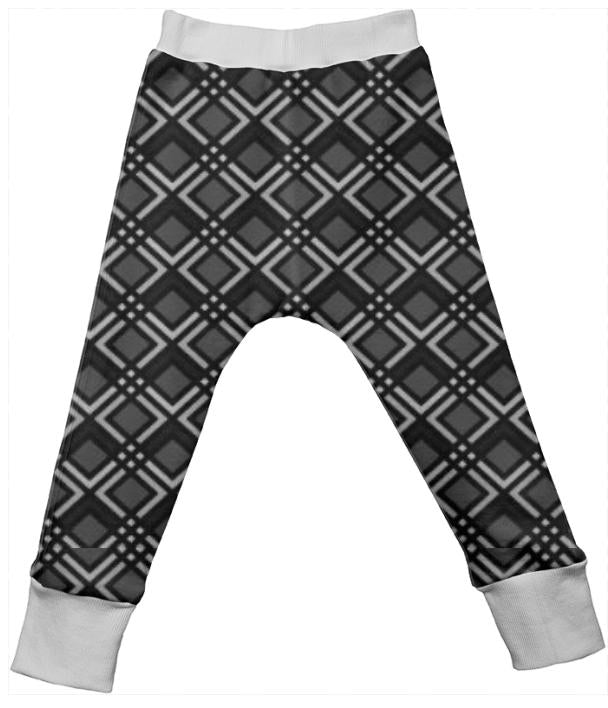 Black Grey Unisex Alloverprint Drop Pants