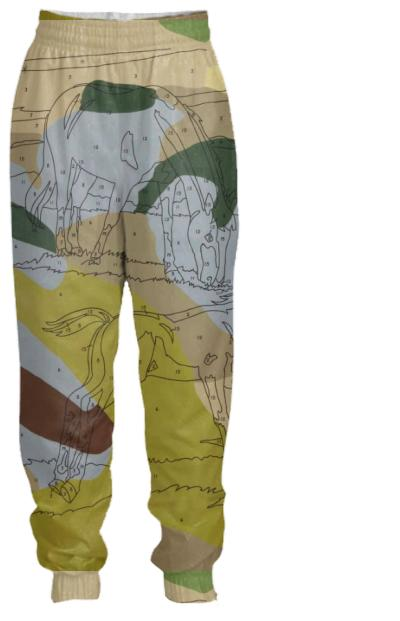 Leave A Mark Green Camo Track Pant