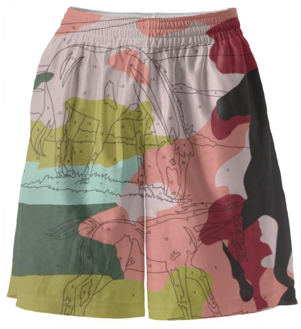PAOM, Print All Over Me, digital print, design, fashion, style, collaboration, trey-speegle, trey speegle, Basketball Shorts, Basketball-Shorts, BasketballShorts, Leave, Mark, Pink, Camo, spring summer, unisex, Poly, Bottoms