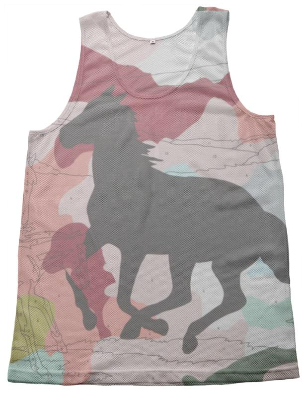 PAOM, Print All Over Me, digital print, design, fashion, style, collaboration, trey-speegle, trey speegle, Mesh Tank, Mesh-Tank, MeshTank, Leave, Mark, Pink, Camo, spring summer, unisex, Poly, Tops
