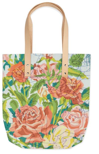 PAOM, Print All Over Me, digital print, design, fashion, style, collaboration, trey-speegle, trey speegle, Summer Tote, Summer-Tote, SummerTote, Reasons, Love, You, Teapot, Roses, spring summer, unisex, Poly, Bags