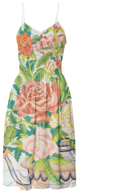 Reasons To Love You Teapot Roses Summer Dress