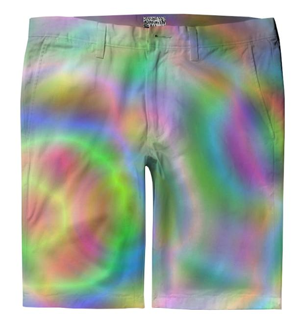 rainbow circles trouser shorts