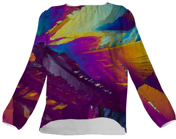 Wild Splash Crystal VP Silk Top