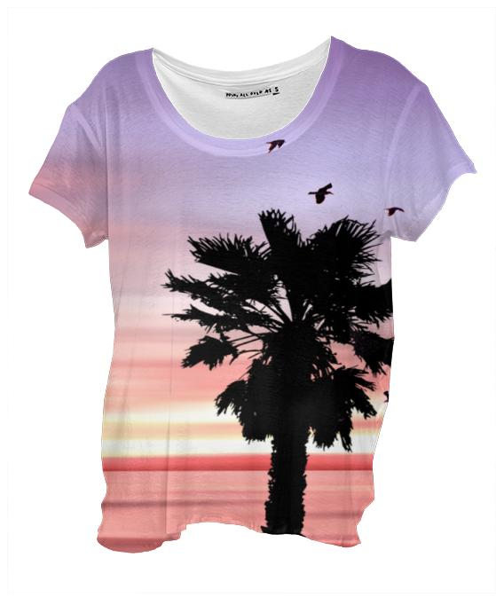Sunset Beach Drape Shirt