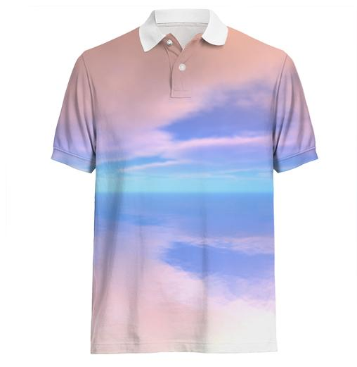 Dawn Clouds Reflected on Water Polo Shirt
