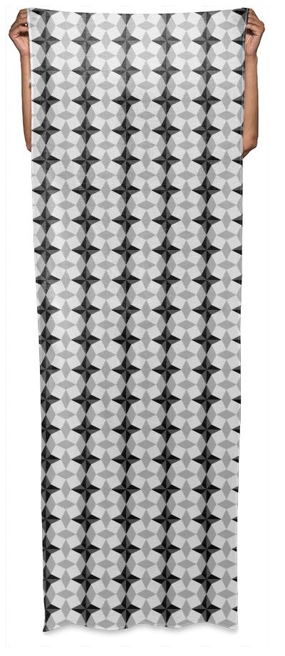 Black and Gray Starbust and Rhombus Pattern
