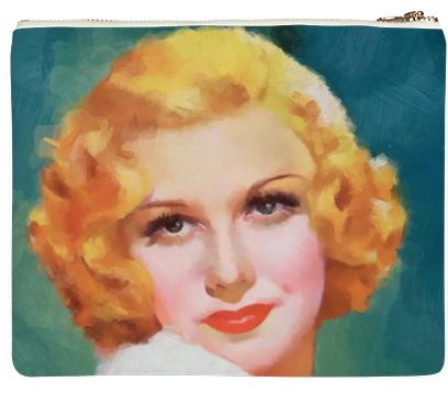Beautiful Vintage Painted Woman Neoprene Clutch
