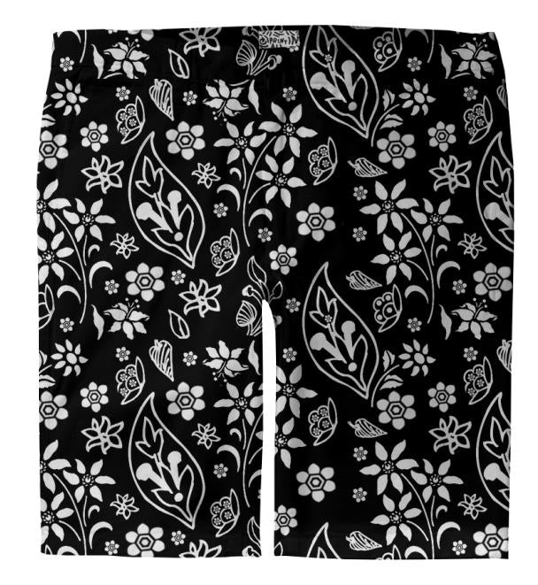 PAISLEY BLACK WHITE