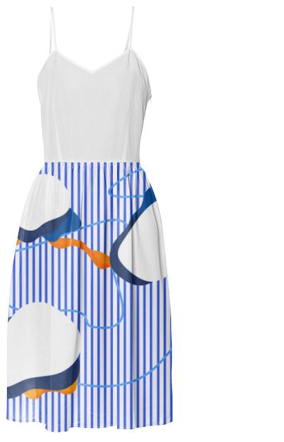 PAOM, Print All Over Me, digital print, design, fashion, style, collaboration, danielforero, Summer Dress, Summer-Dress, SummerDress, Blue, Stripe, spring summer, unisex, Poly, Dresses