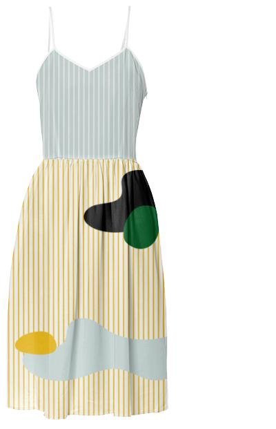 PAOM, Print All Over Me, digital print, design, fashion, style, collaboration, danielforero, Summer Dress, Summer-Dress, SummerDress, Yellow, Stripe, spring summer, unisex, Poly, Dresses