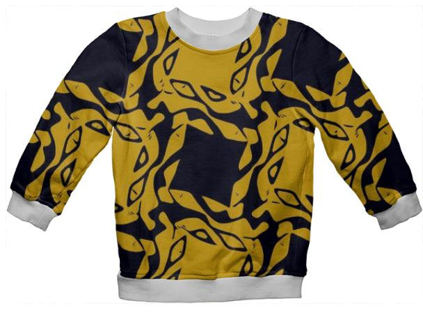 Kid s Geometric All Over Print Sweatshirt