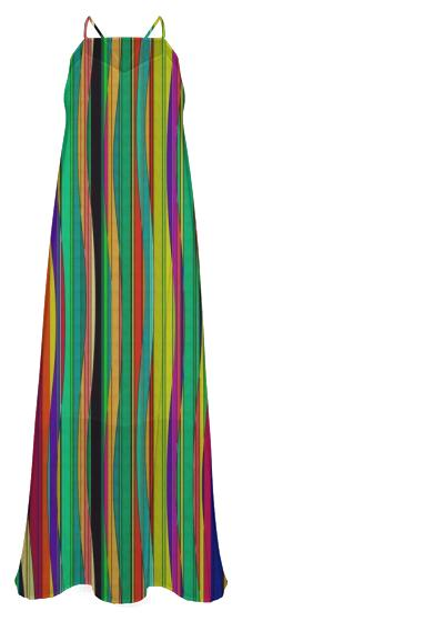 Linear Deviation chiffon maxi dress