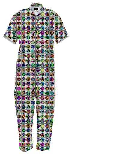 PAOM, Print All Over Me, digital print, design, fashion, style, collaboration, muffybrandt, Jumpsuit, Jumpsuit, Jumpsuit, DOTS, AND, GRID, autumn winter spring summer, unisex, Cotton, One Piece