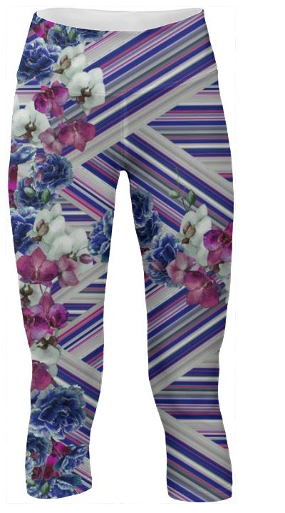 Woven Orchids White sporty pant