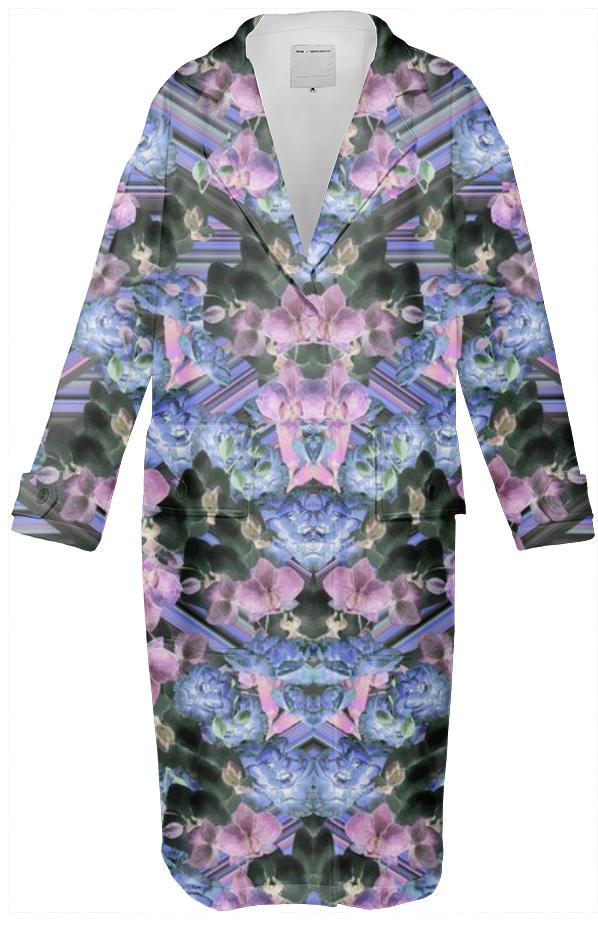 Woven Orchids Lilac Coat