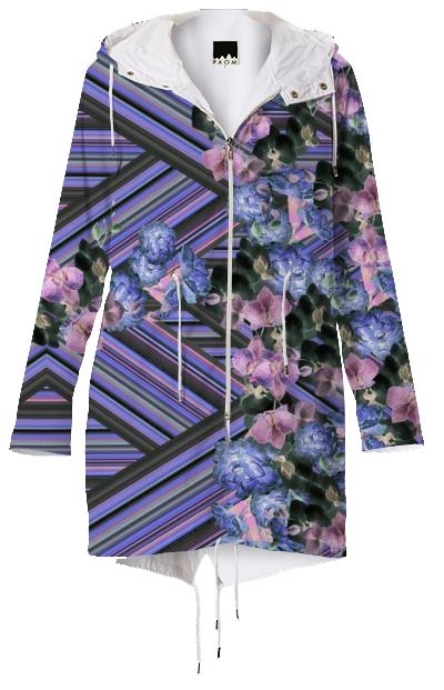 Woven Orchids Lilac Raincoat