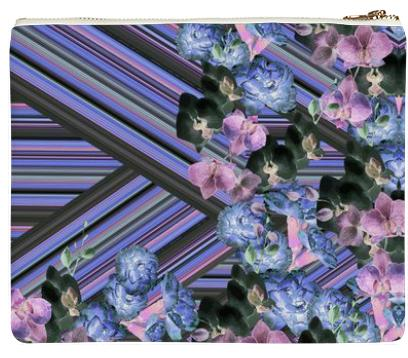 Woven Orchids Lilac Clutch