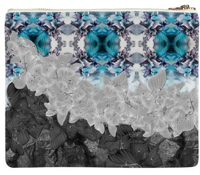 Dark Luna Teal Clutch