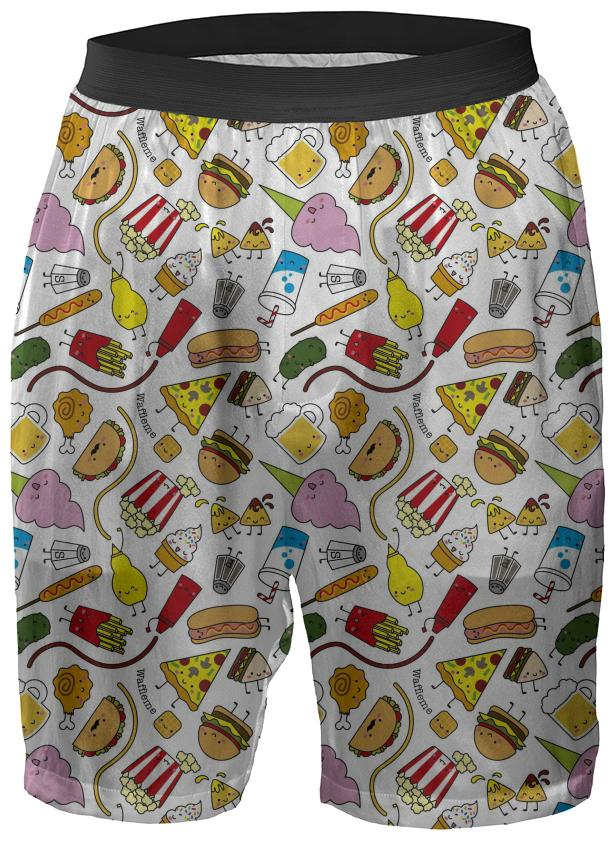 Junk food boxer shorts
