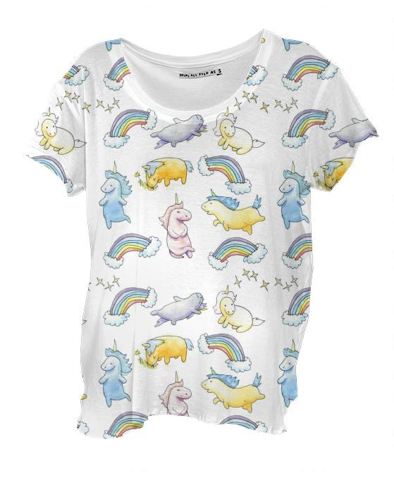 Rainbows and Unicorns Drape Shirt