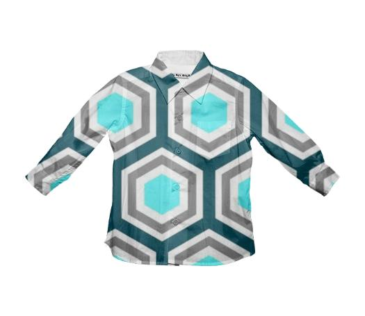Hexagon Patterned Youth Shirt