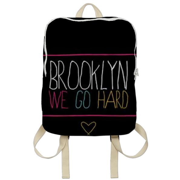 Brooklyn We Go Hard Bookbag